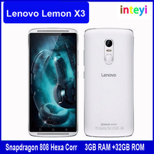 "Original Lenovo Lemon X3 4G LTE Cell Phone Android 5.1 Snapdragon 808 Hexa Core 3GB RAM 32GB 5.5"" 1920x1080 21MP Camera 3600mAh"