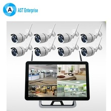 Home 8CH Outdoor Waterproof 1080P Security Camera System 8 Channel CCTV WIFI LCD Screen DVR NVR kit video surveillance kit
