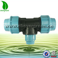 compression fittings plastic reducing tee
