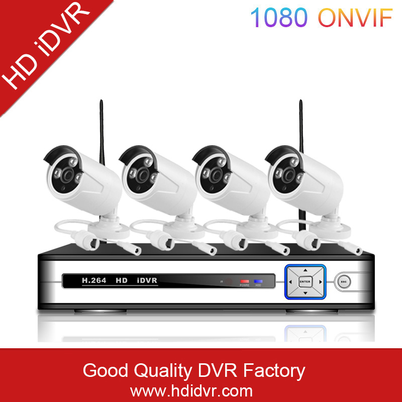 2016 best seller 4ch cctv NVR KIT outdoor support P2P h.264 NVR Kits 4pcs IPcamera