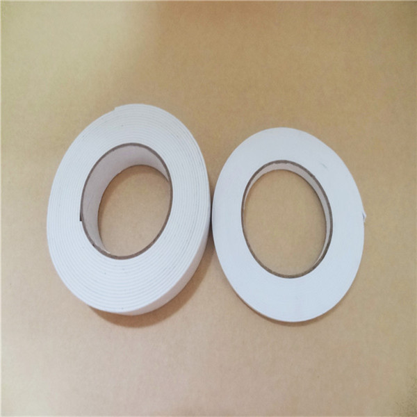 White self adhesive flexible double sided PE tape