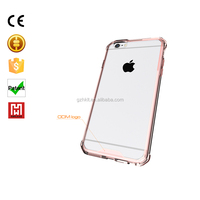 High quality printing transparent clear tpu silicone bumper phone case for iphone 6plus case