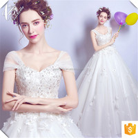 Alibaba Suzhou Factory Ball Gown Dresses Sweet Wedding Dresses Ivory