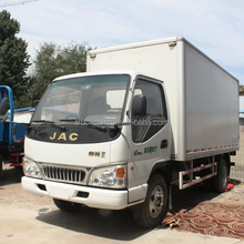 Cheap price JAC 4x2 109hp light van cargo truck China small truck for sale