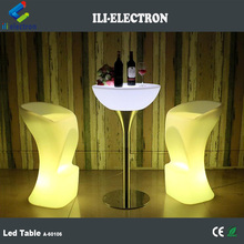 Cafe bar used plastic led cocktail table