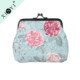 Fashion flower design women girls hot sale coin pouch small promotional fancy canvas coin purse