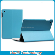 Brief Leather Cover Case For iPad 4 Blue Color Microfiber Material Folio Leather Case For iPad 4