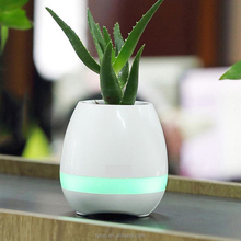 Home Plant Pots Smart Bluetooth Speaker Piano Music Rechargeable Flower Pots with Night Light