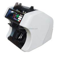 intelligent 2 pocket bill sorting machine automatic bill counter fake note detector