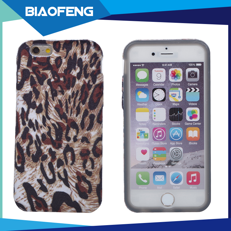 Oem/odm custom embroidery fabric phone case for iphone 6,7,7 plus soft silicone case keep your hand warm during winter
