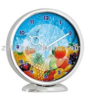 fruit table clock