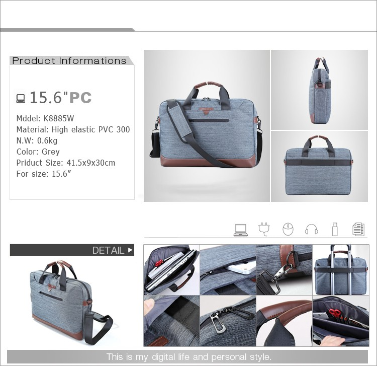Guangzhou business new design travel laptop bag