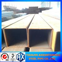 10x10-100x100 steel square tube supplier rhs metal tube black square steel pipe anti-rust olied automobile