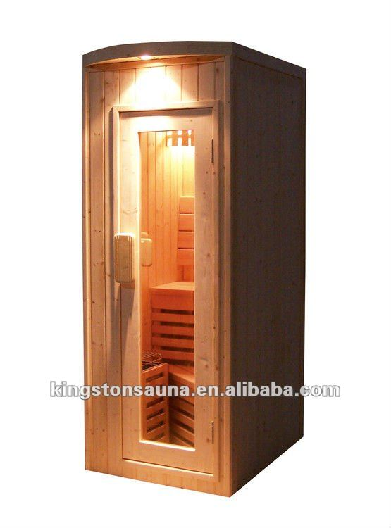 mini traditionnelle cabine de sauna salle de sauna sec. Black Bedroom Furniture Sets. Home Design Ideas
