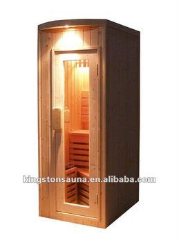 mini traditional sauna cabin dry sauna room for 1 person. Black Bedroom Furniture Sets. Home Design Ideas