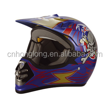 Moto cross helmet with intercommunications---ECE/DOT Approved