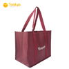 high quality 6 bottles non woven tote wine bag with pp woven handle