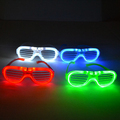 LED shutter glow glasses