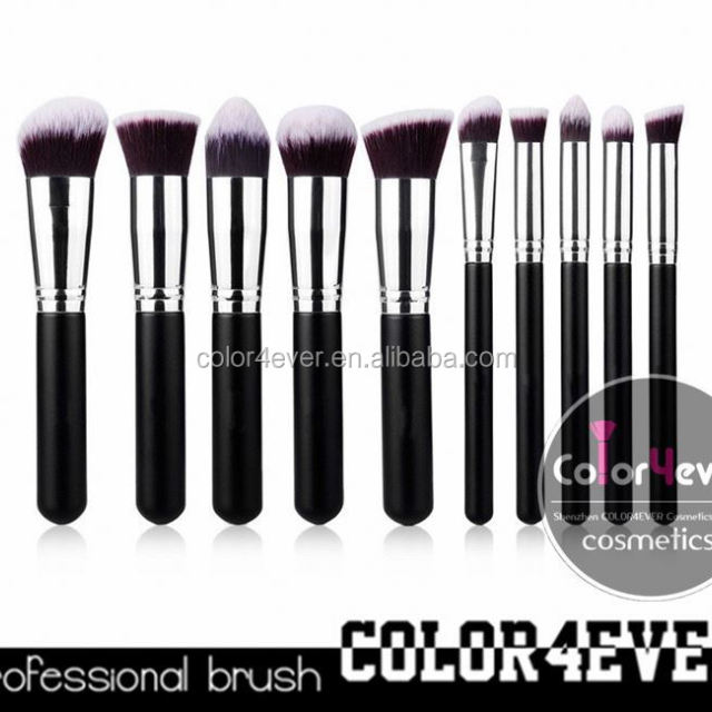 Wholesale!Top quality professional 10pcs makeup brush air brush makeup kit