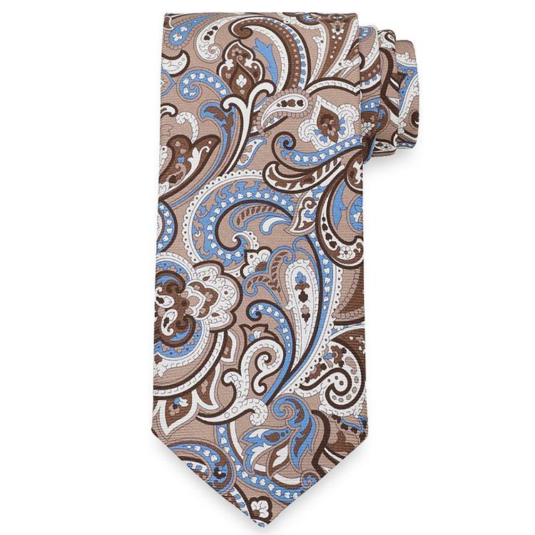 50D Polyester Twill Satin Paisley Print Tie <strong>Poly</strong> Printed Necktie