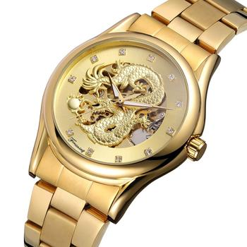 2019 New Fashion Time  Gold Watch Men Luxury Brand Automatic Stainless Steel Wristwatches