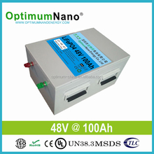 rechargeable high capacity and high power lifepo4 100ah 48v lithium ion battery for Storage