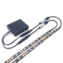 SMD 3825/2835/5050 5V with 3key controller/RF Remote Controlled Battery Operated Powered mini Led Strip Light 0.5m 1m 1.5m 2m