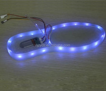 waterproof rechargeable RGB USB led shoes lamp