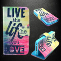 Flip Cover Colorful Card Slot Wallet Stand Leather Case for iPhone 4 4S 5 5S 5C 6 6s for GALAXY S3 S4 S5 Note 3 4 5