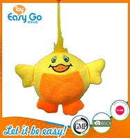 Customized Bcsi OEKO plush yellow bird keyring toys