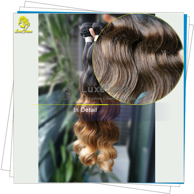 Without any chemical processed trusty quality long lasting three tone ombre color hair