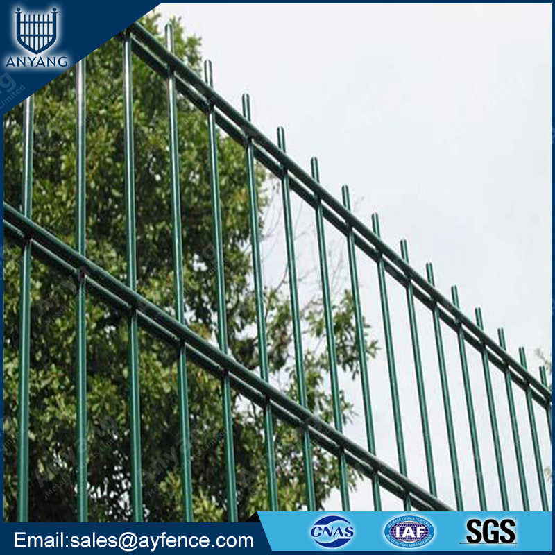 2D High Security Ornamental PVC Coated Galvanized Double Wire Fence for Garden School Playground Sports