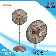 16 18 inch full metal antique style stand fan with golden rose /chrome color