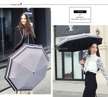 most demanded products 3 folding automatic beach sunshade umbrella attractive lady umbrella parasols