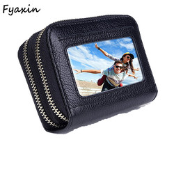 Cheap Price Leather Mini Wallet Genuine Leather ID Card Holder For Sale