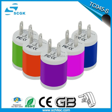 2015 SCGK charger factory hot selling US charger with 2 pins plug used electronics from china TC045