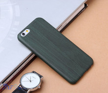 Hot Selling wood grain Soft PU leather Back Cover Case for iphone5/6/6plus Can do your own logo
