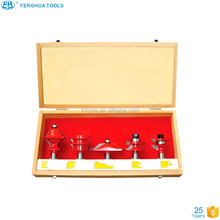 Type 2 Wooden Case packing Red Colour Router Bit 5Pcs Rail&Stile Bit Set