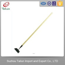 Plastic Coated High Quality Garden Tools Hoe With Wooden Handle