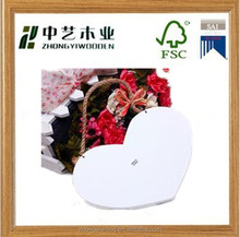 fashion hanging handicraft white home decor art minds carved MDF wooden heart decoration for sale