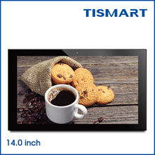 Popular 14 inch tablet touch screen android 6.0 quad core for street digital signage