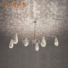Yiman Lighting Stainless Steel Titanium/Titanium Hollow Out Pendant Lamps