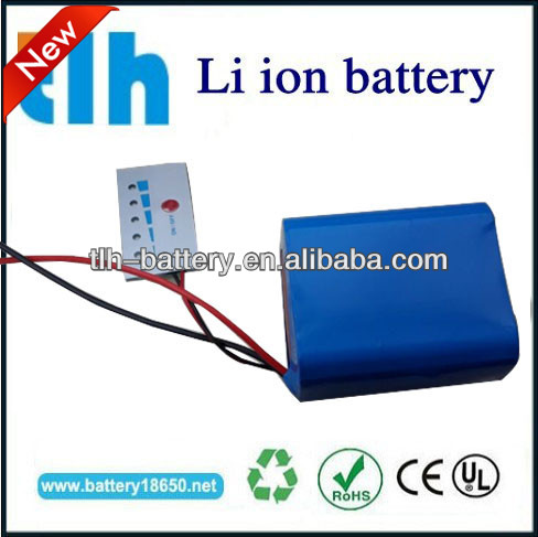 Li-ion 12v 18650 battery pak 4Ah with wires for led light