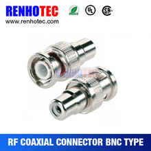 BNC Male Plug to RCA Female Jack Coax Cable Video Adapter