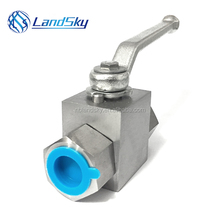 LandSky 2 3 three piece high pressure ball valve KHB3K-G3/4 position three-way 314bar carbon brass stainless steel DN20mm