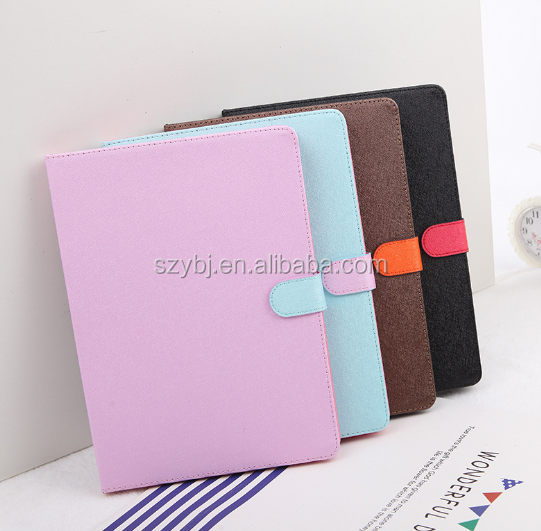 Factory top sale PU leather business classical colorful style smart cover super slim tablet case for ipad Air 2/6