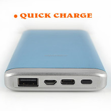 QC2.0 quick charging 10000mAh portable mobile power bank for smart phone and ipad