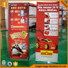 Double sides Water base x banner stand for sale promotion