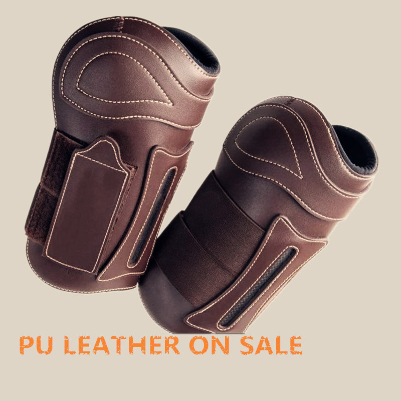Hot Sales Custom Light Leather Cover Wind Proof Leather Knee Pads Protective PU Leather Material for Knee Elbow