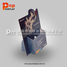 paper brochure holder display / poster display with brochure holder